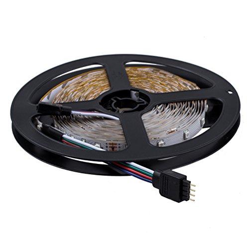 SODIAL(R) 2x5m 10M 3528 tira flexible SMD LED RGB 600 Lampara de luz de la cinta 44 Controlador Colores IR Key. Ideal para jardines, Casas, cocina, debajo del gabinete, Acuarios, Coches, Bar, Luna, bricolaje decoracion del partido Iluminacion