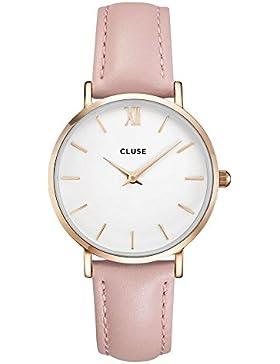 Cluse Damen-Armbanduhr Analog Quarz Leder CL30001