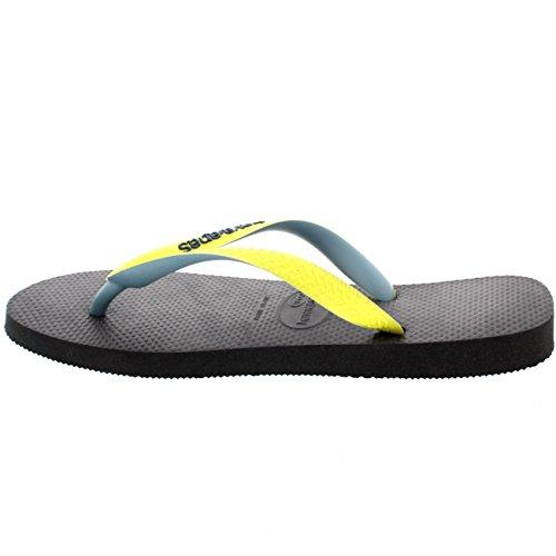 Herren Havaianas Top Mix Lässig Urlaub Strand Sommer Flip Flop Sandalen Marine/Grau/Grün