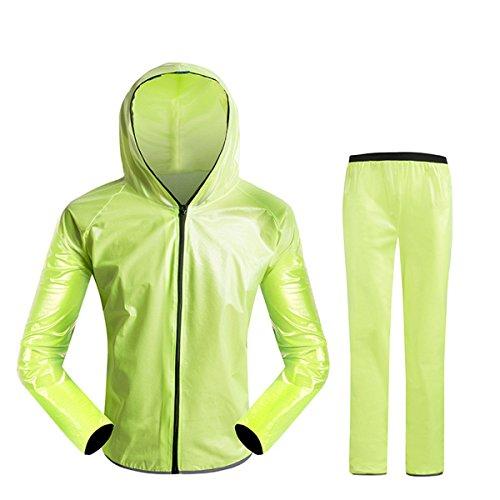 Queenbox Wasserdichte Regenanzug mit Kapuze, Regenmantel Jacke und Hosen Wasserdichte Freizeitjacke Split Geeignet für Jungen und Mädchen Mountainbike Ausrüstung Radfahren Regenmantel