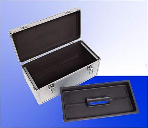 TronicXL Angelkoffer leer Alu Aluminium 44x24x22 cm mit Einleger Angler Koffer Tasche