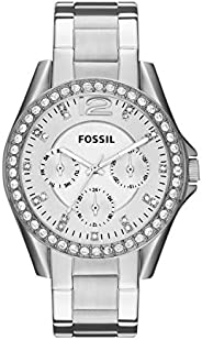 Fossil Women's Riley Quartz Two Tone Stainless Steel Chronograph Watch Color: