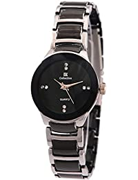 Goldenize Fashion New Arrival Special Collection New Arrival Festive Season Special Analog Black Dial Black-Silver...