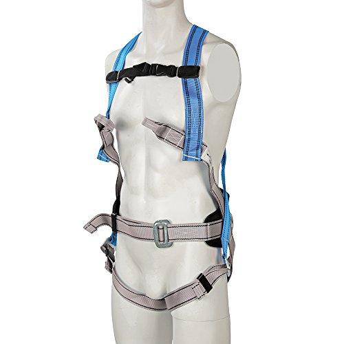 Silverline 251483 - Arnés anticaída y cinturón de sujeción (4 puntos de anclaje)