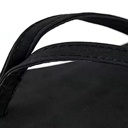Baymate Femme Flip Flops Vacances Plage Pantoufles Confort Sandales Noir