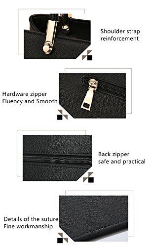 MATAGA Mode Handtasche Für Frauen Tragen Umhängetaschen Für Damen Handtaschen + Chain Bag JH-502 Rot