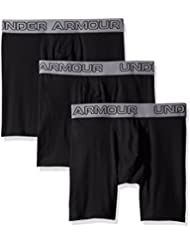 Under Armour Herren Unterhose Cotton Stretch 6'' 3 Pack-blk