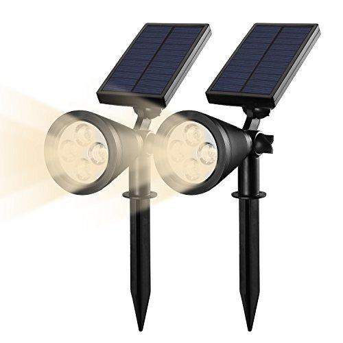 Lampada Solare da Esterna,Rixow 200lm Luci Solari / Illuminazione Giardino / Lampade da Terra Esterno / Lampioni da Giardino,set di 2