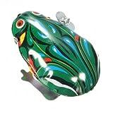 Qualitäts-Weinlese Metall Wind -up- Jumping Frog Uhrwerk Blechspielzeug klassischen Geschenk-