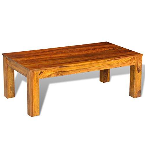 Anself 110 x 60 x 40cm Table de Salon en Palissandre Massif Basse Rectangulaire de Haute Qualité