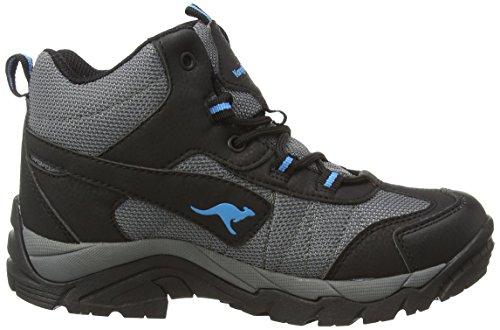 KangaROOS K-outdoor K 2111, Chaussures de randonnée mixte enfant Gris - Grau (dk grey/smaragd 286)