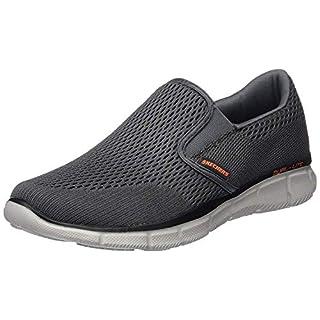 Skechers Equalizer Double Play, Men's Fitness Shoes Grey (Charcoal/Orange) 9 UK 43 EU