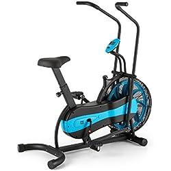 CAPITAL SPORTS Stormstrike 2k Bicicleta elíptica ergómetro (Resistencia regulación contínua, entrenamiento brazos y piernas, monitor integrado, altura regulable, hasta 120 kg) - negra azul