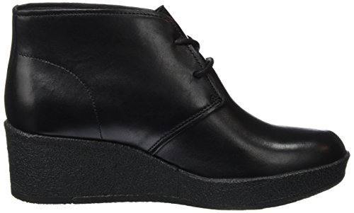 Clarks Originals Athie Terra, Stivaletti Donna Nero (Schwarz Leather)