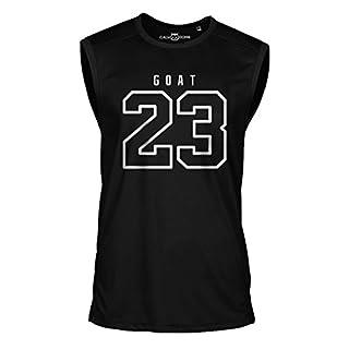 23 Goat Jordan Sleeveless Shirt Greatest of All Time Basketball Jersey Trikot Michael Bulls (XL, Schwarz)