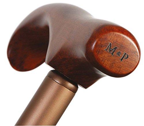 Bastón extensible M&P aluminio mango madera telescópico