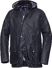 9f3ceb3fe7ac Royal Spencer Herren Wachsjacke in Marine-Blau, Stilvolle Wind- und  Regenjacke, Outdoorjacke mit vielen…