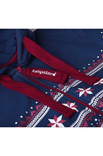 Jumpster Damen und Herren Jumpsuit Langer Overall Alpaka Regular Fit Blau M - 4