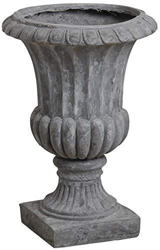 AUBRY GASPARD Vase Medicis en Fibre de Ciment Gris Hauteur 52cm