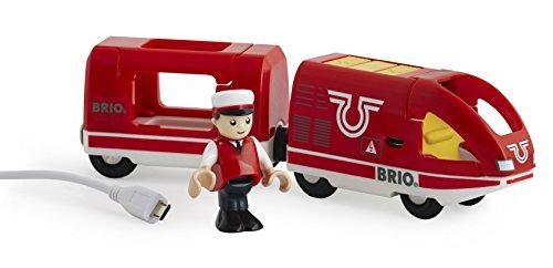 BRIO 33746 - Roter Akku-Reisezug, Transport Verkehr