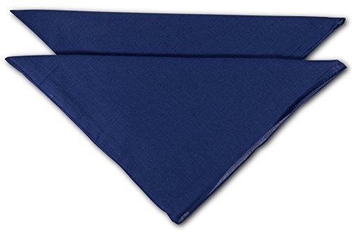 FashionCHIMP Nicki-Halstuch aus 100% Baumwolle im 2er Set, Unisex Bandana, AZO-Frei (Marine-Uni)
