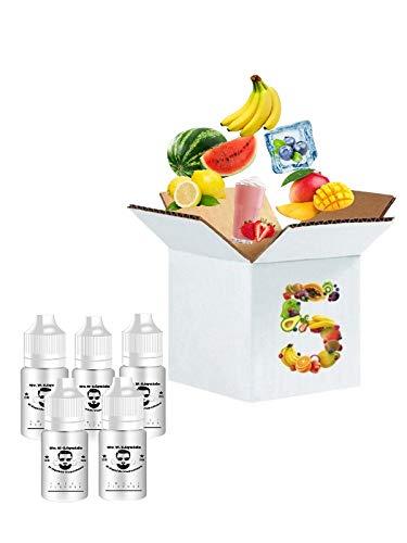 Senhor E-Liquido E liquid set E liquid aroma 5 X 10ml Eliquid flaschen für E-Zigarette E-Shisha eliquid mit nikotin 6mg VG50/PG50 + 10ml GRATIS E-Liquid -