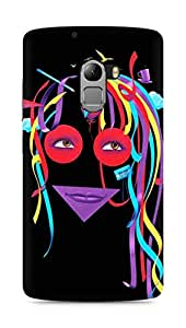 Amez designer printed 3d premium high quality back case cover for Lenovo K4 Note (Colorful girl)