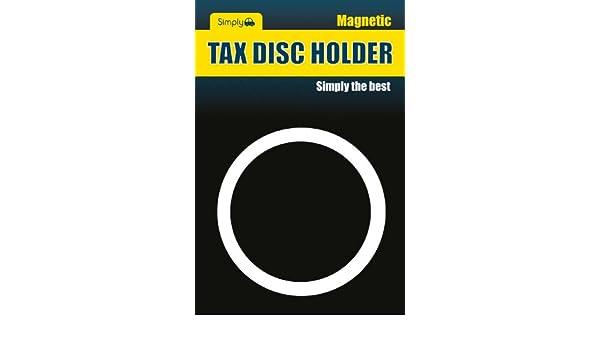 Simply TL9000 Self Cling Tax Disc Holder Black