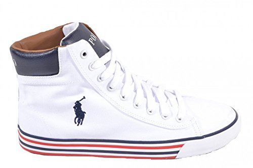 Polo Ralph Lauren Uomo Sneakers, Bianco, 42