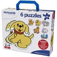 Miniland - Puzzle: Silueta 6 animales (35220)