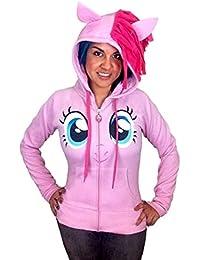 My Little Pony Pinkie Pie Gesicht pinkes Kinderkostüm Hoodie mit Mähne