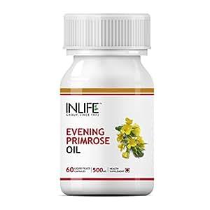 INLIFE Evening Primrose Oil Extra Virgin Cold Pressed, 500 mg - 60 Capsules