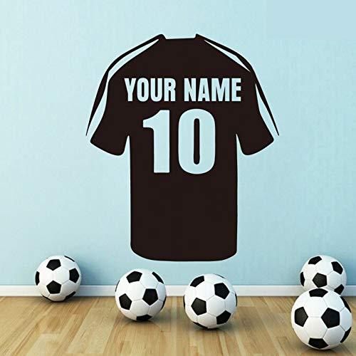 Personalisierte Home Jersey (Wandaufkleber,Personalisierte Name Jersey Wandtattoos Für Jungen Zimmer Home Art Decor Vinyl Aufkleber Für Wohnzimmer Dekorieren Poster 67X57 Cm)