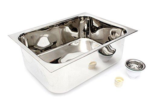 Patel Kitchen Sink Stainless Steel Sink S S Sink,24x18x10 Inches, 1mm Thickness 304 Grade Star Prm Range.