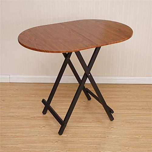 Brown Ovalen Esstisch (Tingting Couchtisch Kaffeetisch Esszimmertische Startseite Klapptisch Einfach Oval Stall Tisch Esszimmer Computertisch Tragbare Outdoor-Küche Esstisch Büro Kindertisch)