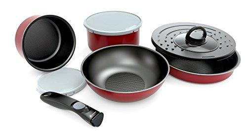 battrino-x-set-de-poeles-et-casseroles-avec-poignee-amovible-set-8-pieces-rouge-tous-feux-dont-induc