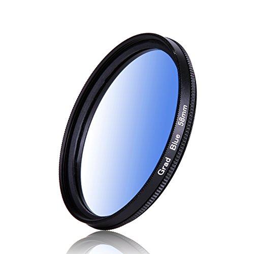 58mm couleur dégradé bleu couleur progressif Filtre Objectif Filtre pour Canon Nikon Sony Caméscope Appareil photo reflex numérique Objectif