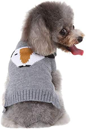 Youdong Dog Coat Puppy Winter Warm Coat Dog Jacket Pet Coat Sweater Hoodie Clothing Apparel for Small Medium Pet Dog Clothes Costume Puppy cat Knit Sweater Big Clothes Warm Sweater