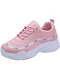 9ae46eebff6e73 ZIYOU Damen Laufschuhe Sport Outdoor Fitnessschuhe Sneaker Freizeit  Atmungsaktive Basketballschuhe…