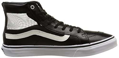 Vans Unisex-Erwachsene Sk8-Hi Slim Cutout Low-Top Schwarz (mesh/black/white)