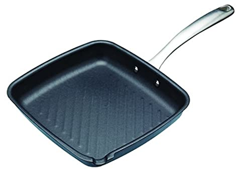 Master Class Professional Carbon Steel Non-Stick Induction-Safe Griddle Pan, 26 cm (10