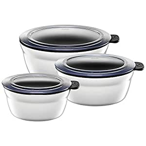silit fresh bowls vorratsdose set 3 teilig silargan funktionskeramik multifunktions schale. Black Bedroom Furniture Sets. Home Design Ideas