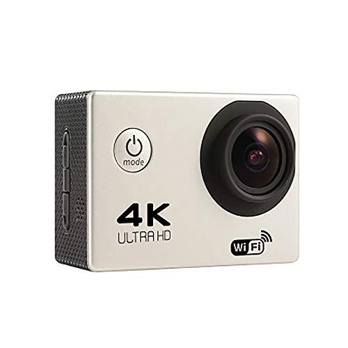 ZUEN Sport-Kamera, Drahtlose WiFi-Mini-HD 4K 140 ° Weitwinkel-Kamera Im Freien Wasserdicht, Geeignet Für Diejenigen, Die Outdoor-Sportarten Aufzeichnen Möchten,Weiß