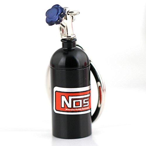 Maycom® Mini-Stickstoffoxidflasche an Schlüsselring, Schlüsselanhänger, tolle versteckte Pillen-Aufbewahrung, schwarz, S