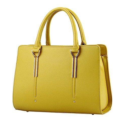 FZHLY Borsa A Tracolla Femminile Nuovo Sweet Lady Stereotipi Fashion Messenger,Rose Yellow