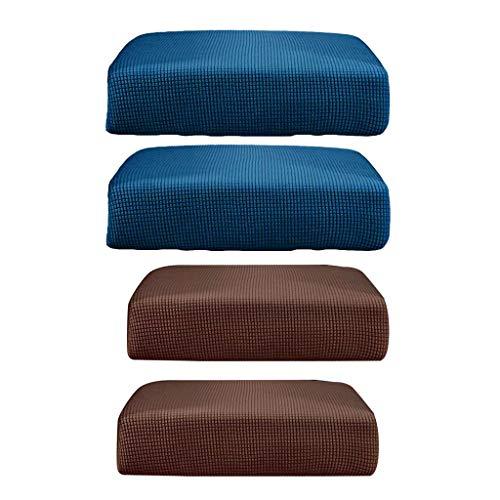 F Fityle 4 Stücke Stretchy Sofa Schonbezüge Super Warm Und Weich Couch Schonbezug Atmungsaktive Sessel Ersatz Gartenmöbel Für 2 Personen Sofa -