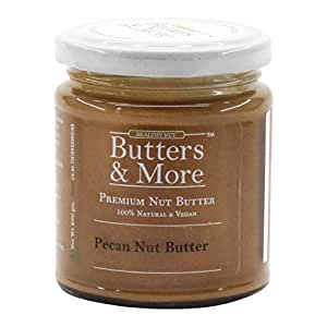 Butters & More Vegan Natural Pecan Nut Butter (200G) Unsweetened Single Ingredient Premium Nut Butter. Keto & Diabetic Friendly.