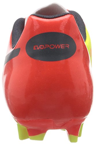 Puma Evopower 4 Fg, Chaussures de football homme Orange (Fluro Peach/Blue/Yellow)