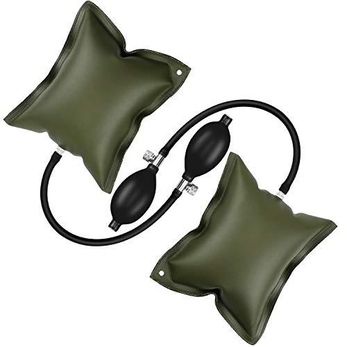 Dreamtop 2 Stück Luftkeil Pumpe Luftkeile Ausrichtungswerkzeug aufblasbare Scheibe für Türfenster Installatio Auto Home Repair Last 200 kg (grün) -
