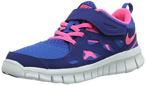 Nike Nike Free Run 2 Psv, Low-top mixte enfant Bleu (gm Ryl/hypr Pnk-dp Ryl Bl-whit 401)